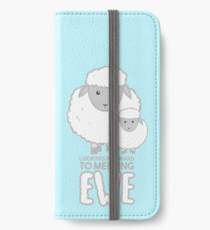 Fathers Day- Sheep - Looking forward to meeting you - Baby Sheep Shirt iPhone Wallet