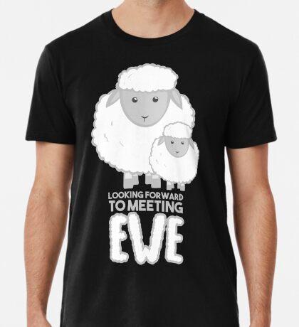 Fathers Day- Sheep - Looking forward to meeting you - Baby Sheep Shirt Premium T-Shirt