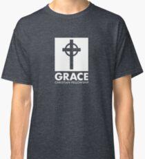 Grace Christian Fellowship Logo, Stacked, White Classic T-Shirt
