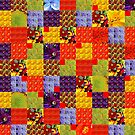 Squares & Colors of Flowers by paintingsheep