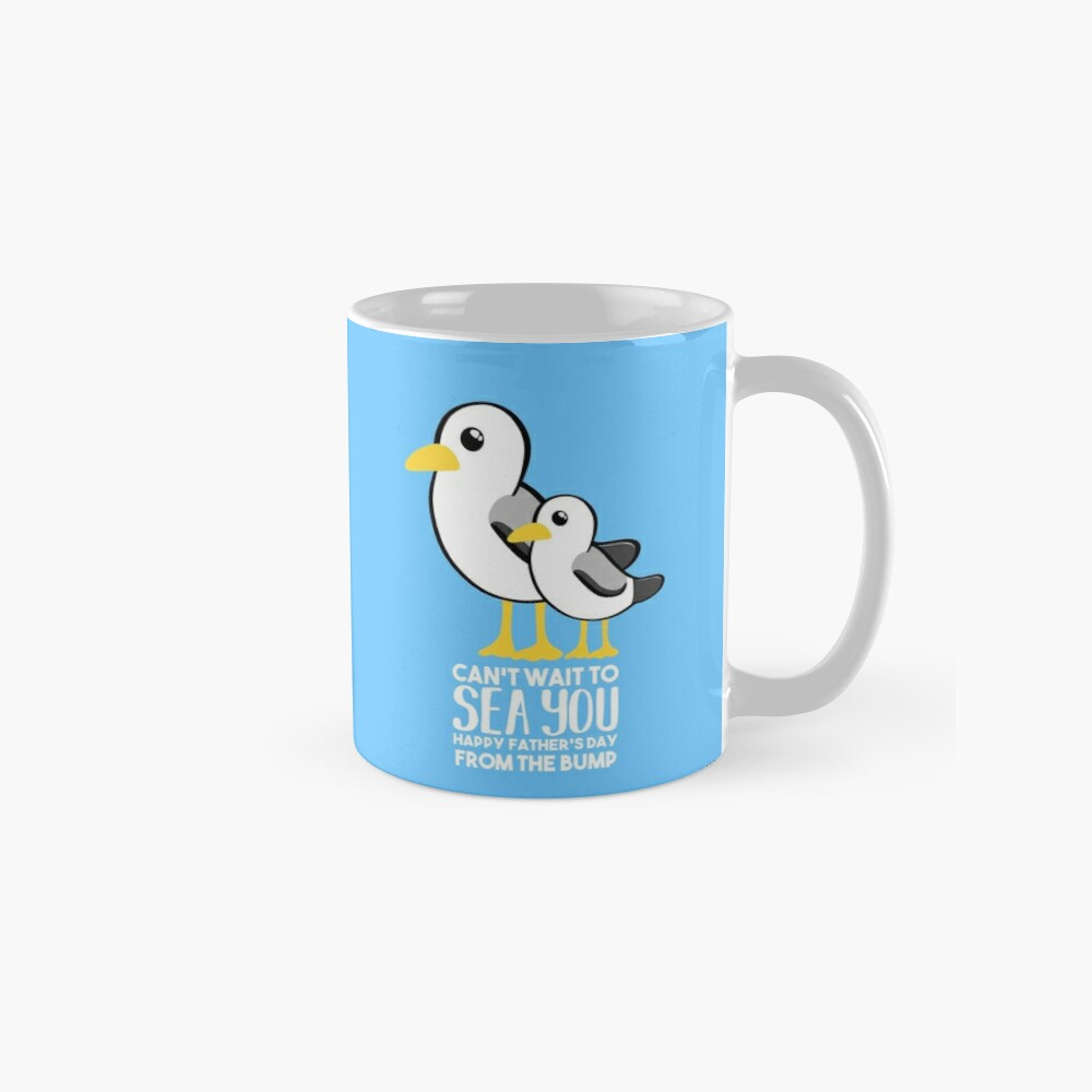 Fathers Day - SeaGull - From The Bump Card - Funny Mugs