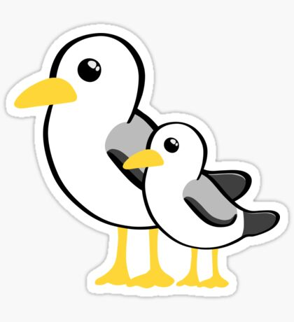 Fathers Day - SeaGull - From The Bump Card - Funny Sticker