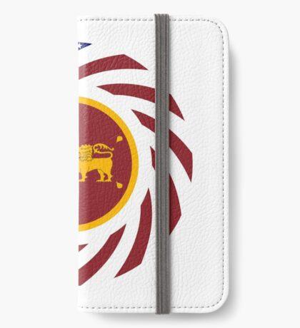 Sri Lankan American Multinational Patriot Flag Series iPhone Wallet