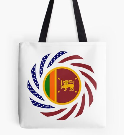 Sri Lankan American Multinational Patriot Flag Series Tote Bag