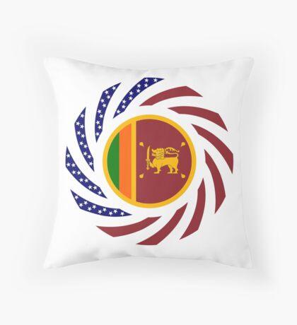Sri Lankan American Multinational Patriot Flag Series Throw Pillow