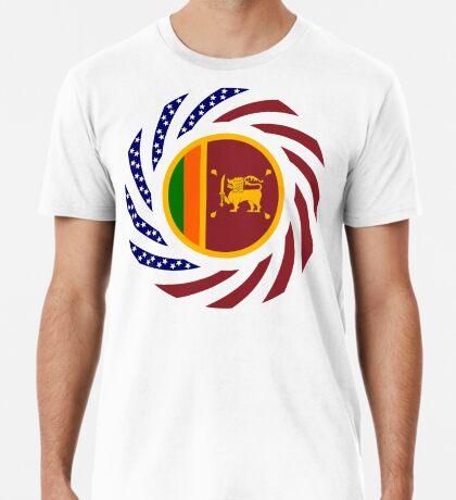Sri Lankan American Multinational Patriot Flag Series Premium T-Shirt