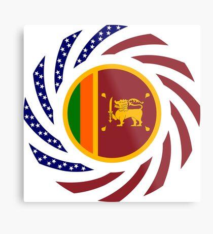 Sri Lankan American Multinational Patriot Flag Series Metal Print