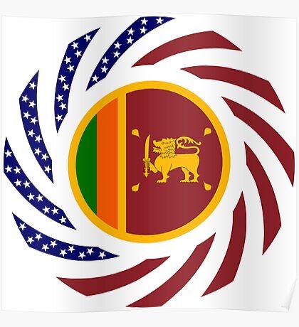 Sri Lankan American Multinational Patriot Flag Series Poster