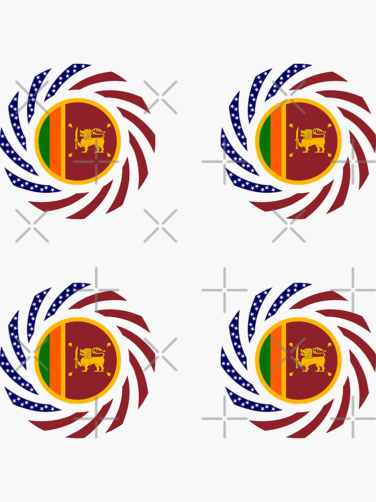 Sri Lankan American Multinational Patriot Flag Series by carbonfibreme