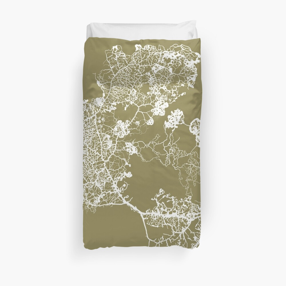 Physarum Polycephalum Duvet Cover