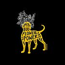 Pit Bull Flower Power (yellow, white crown) by SophieGamand