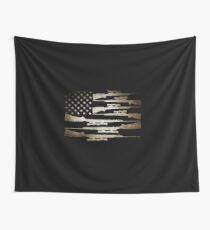 product With Gun - USA Flag - Shooter Gifts Wall Tapestry