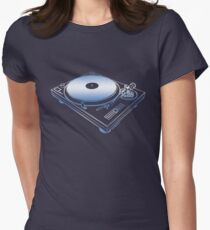 Turntable too Womens Fitted T-Shirt