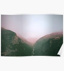 Fog in the Yosemite Park Poster