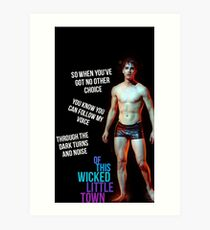 wicked little town shades of blue Art Print