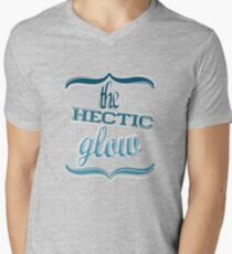 The Hectic Glow Mens V-Neck T-Shirt