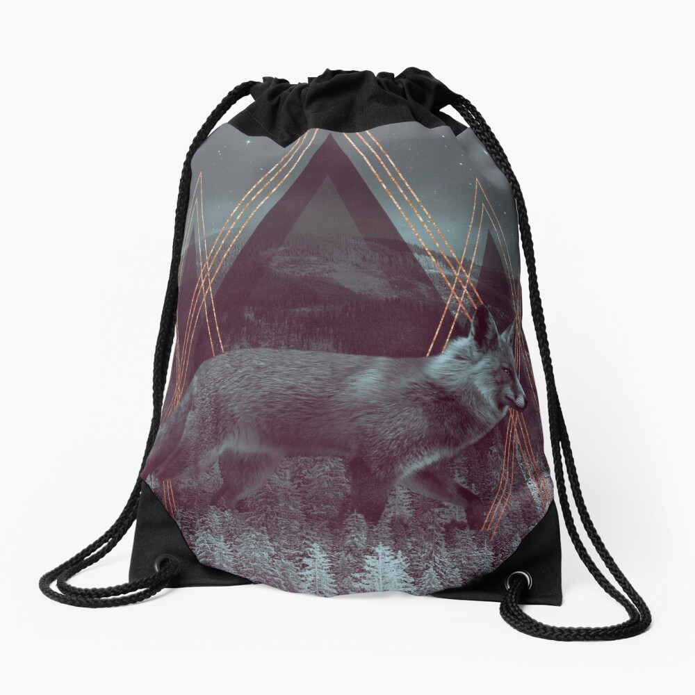 In Wildness | Fox Drawstring Bag