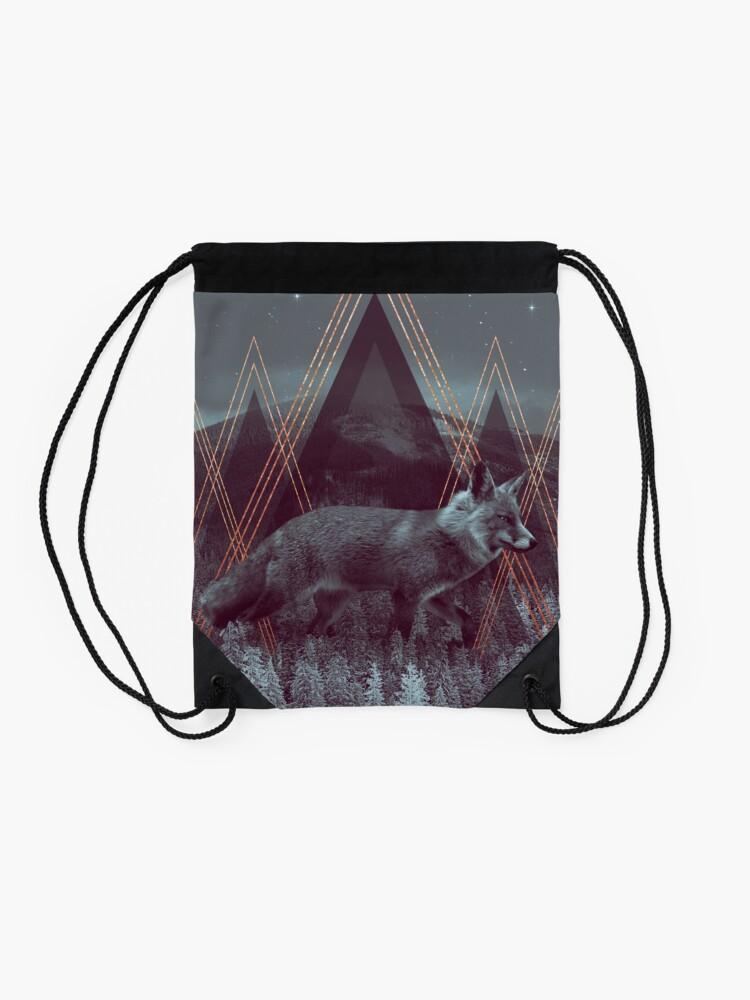 Alternate view of In Wildness | Fox Drawstring Bag