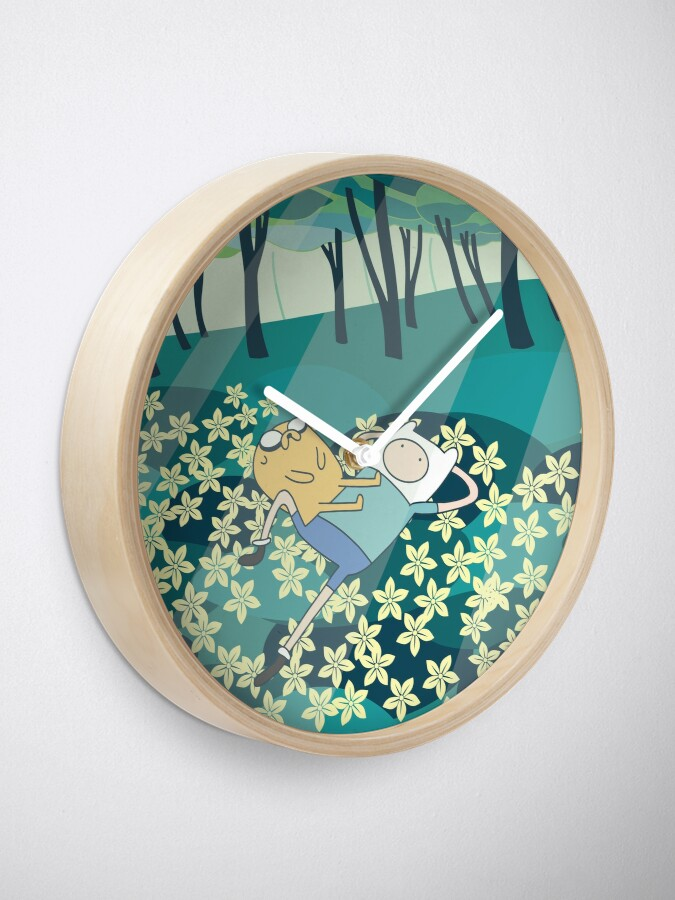 Alternate view of Field of Flowers (Adventure Time) Clock