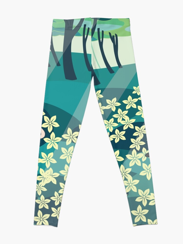 Alternate view of Field of Flowers (Adventure Time) Leggings