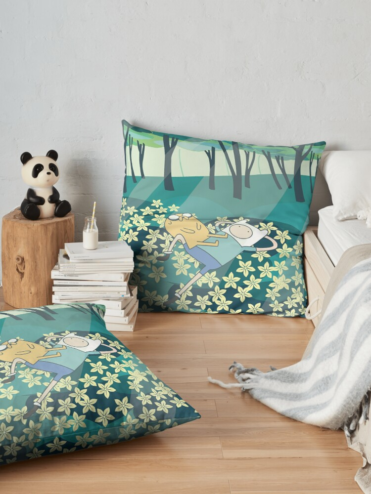 Alternate view of field of flowers ADVENTURE TIME Floor Pillow