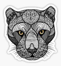 Pegatina Panther, Panthera onca, Zen Tangle
