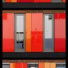 Het 4e Gymnasium - wood, wall panels, windows (triptych v) by Marjolein Katsma