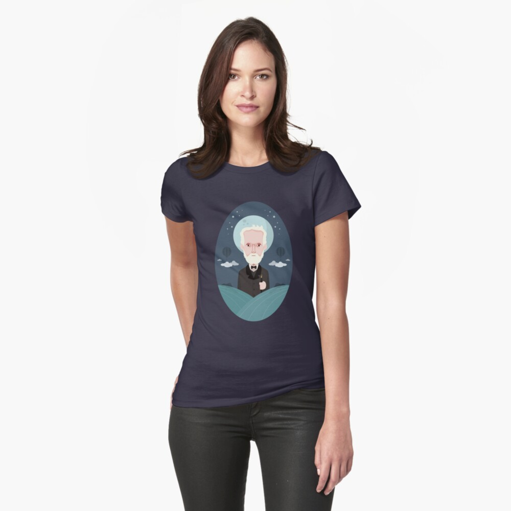Jules Verne Womens T-Shirt Front