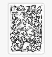 Crumpled Dashes Sticker