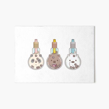 The Bear Bubble Tea, We Bare Bears Fan Art  Art Board Print