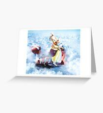 Lord Ganesh on a bike Greeting Card