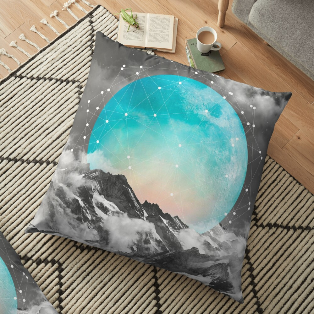 It Seemed To Chase the Darkness Away Floor Pillow