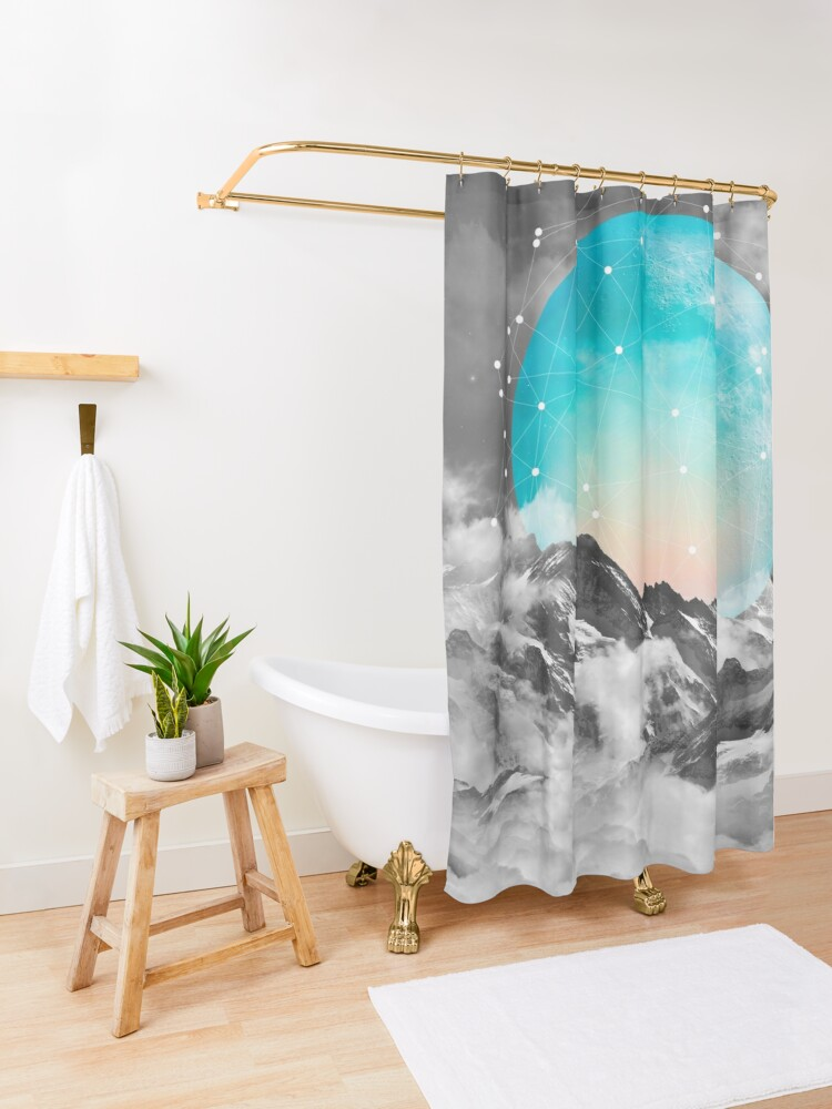 Alternate view of It Seemed To Chase the Darkness Away Shower Curtain