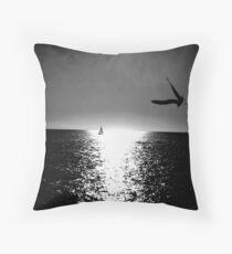 darker sunset Throw Pillow