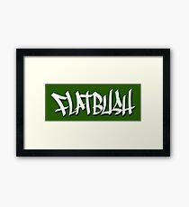 FLATBUSH Framed Print