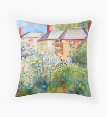 Herb Garden at Strawberry Banke Throw Pillow