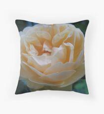 Summertime Lemon Rose Throw Pillow
