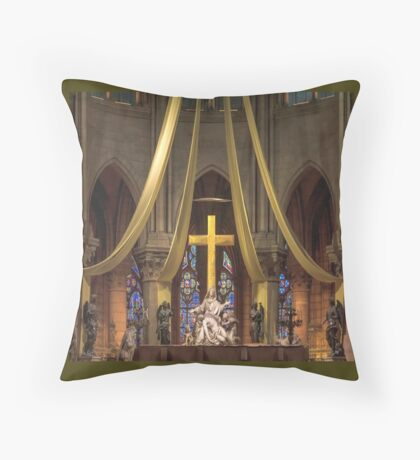 In Homage of the Notre-Dame Cathedral in Paris - LOVE wins in the end! Throw Pillow
