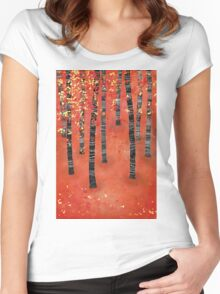 Birches Women's Fitted Scoop T-Shirt