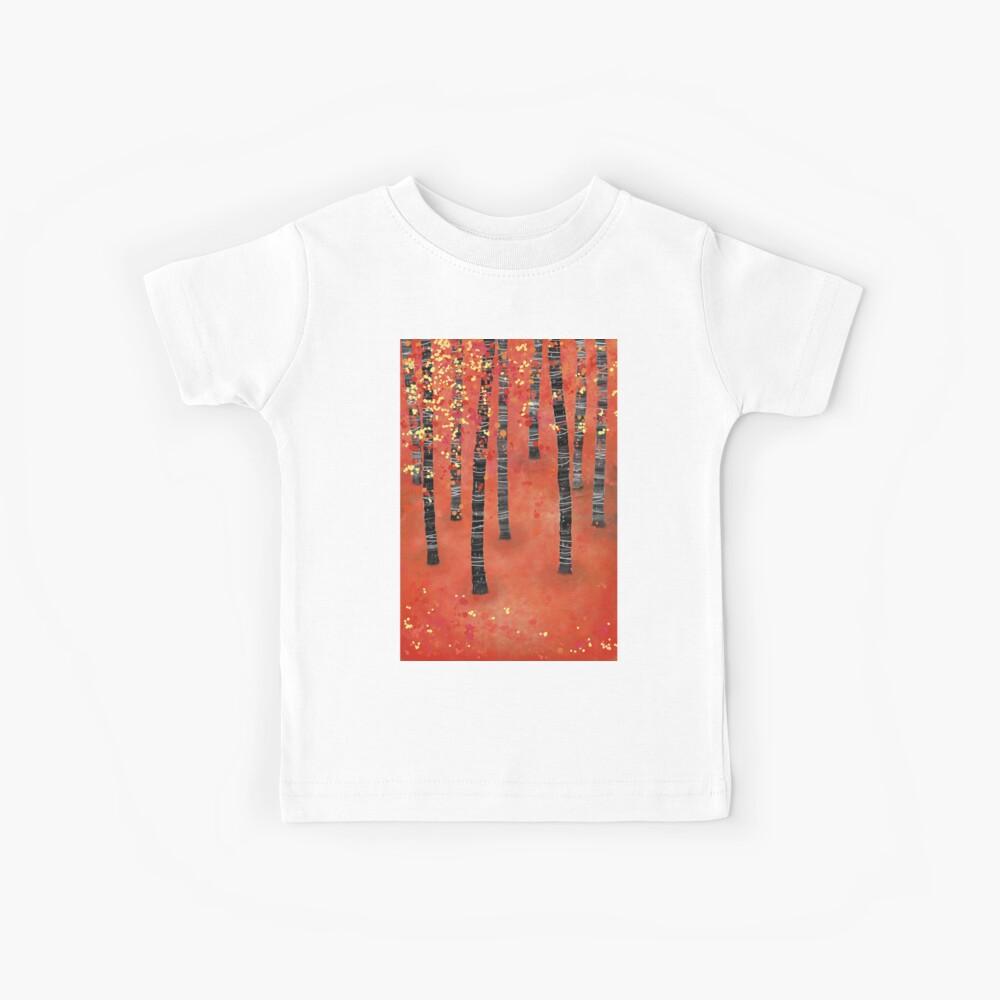 Birken - Herbst Woodland Abstract Landscape Kinder T-Shirt