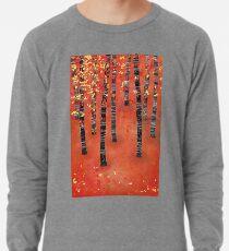 Birches - Autumn Woodland Abstract Landscape Lightweight Sweatshirt