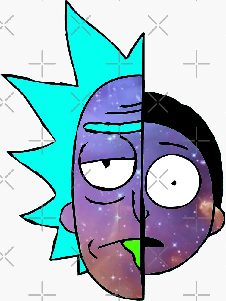 Galactic Rick and Morty by Mightbelucifer