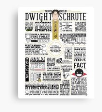 The Wise Words of Dwight Schrute (Light Tee) Metal Print