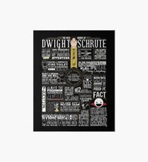 The Wise Words of Dwight Schrute (Dark Tee) Art Board Print