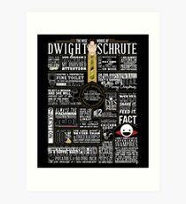 The Wise Words of Dwight Schrute (Dark Tee) Kunstdruck