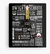 The Wise Words of Dwight Schrute (Dark Tee) Metallbild