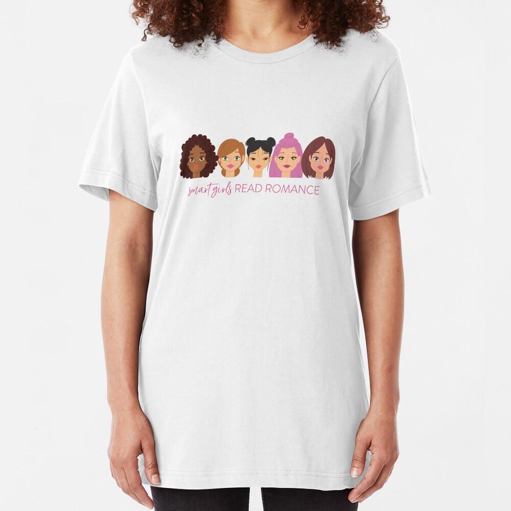 Smart Girls Read Romance Slim Fit T-Shirt