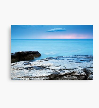 Sunset at basanija Canvas Print