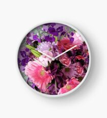 A Passion for Pink and Purple Clock