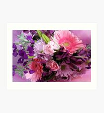 A Passion for Pink and Purple Art Print